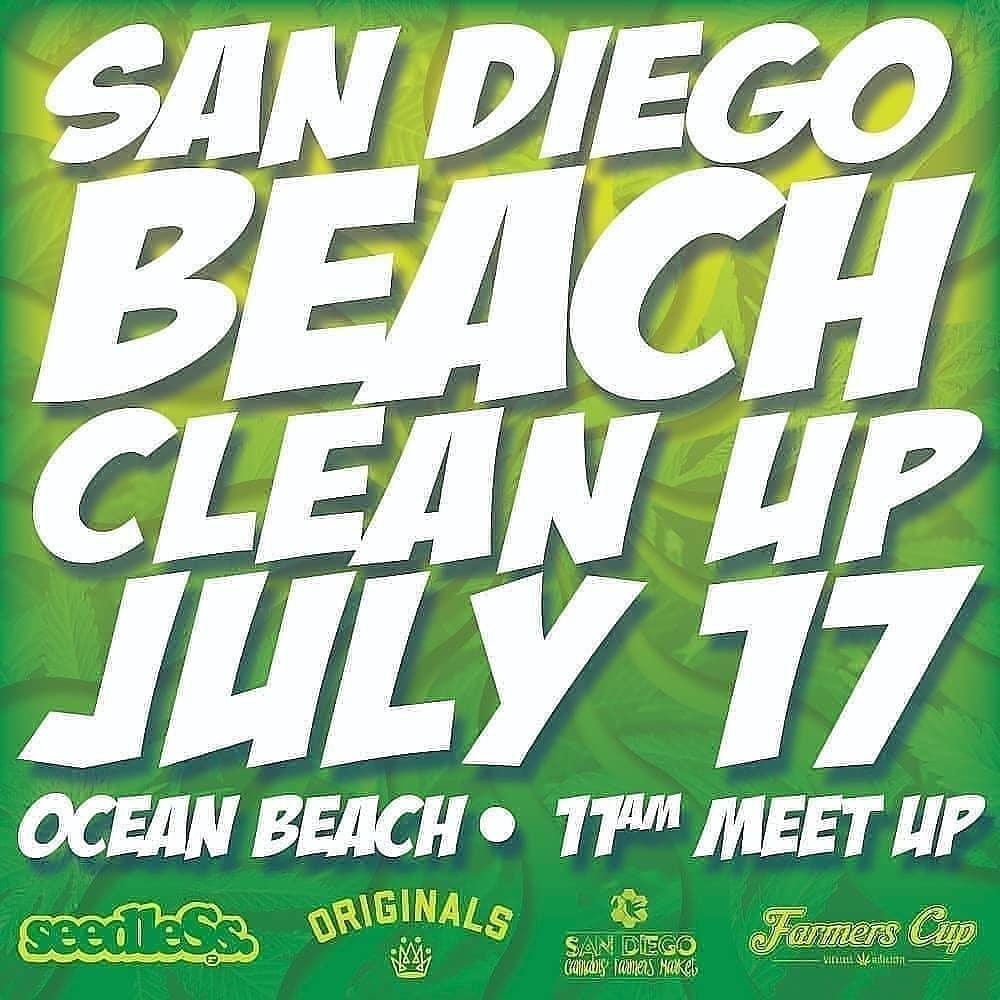 San Diego Beach Clean up July 17 2021